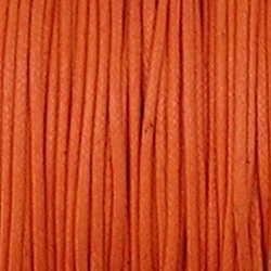 Waxkoord. 1mm. Oranje. Per meter van de rol