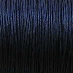 Waxcord. 1mm. Hartblauw. Per meter.