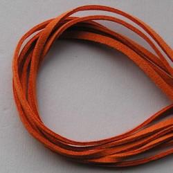 Imitatie Suede Veter. 3 mm x1 meter Oranje