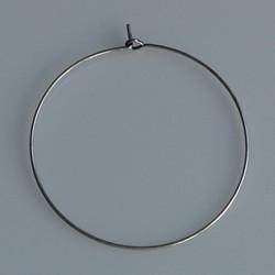 Creool diameter 40mm. Oud zilverkleurig.