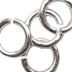 Aanbuigringetjes 5mm en 0.8mm dik, 100 stuks silverplated.