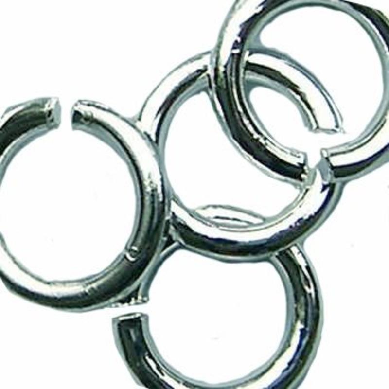 Aanbuigringetjes 5mm en 0.8mm dik, zakje met 100 stuks Zilverkleurig.