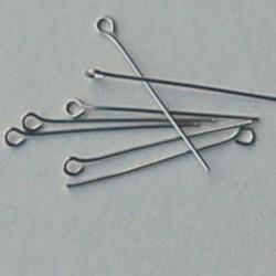 Eyepins. Hoogwaardige kwaliteit. Brass. 0.7x32mm. Zilverkleurig. Per 20 stuks voor.