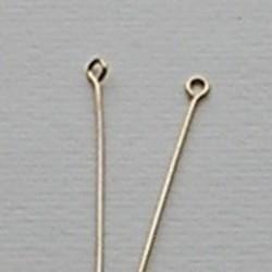 Eyepins. 0.7x32mm. Goudkleurig. 100 stuks voor
