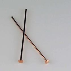 Nietstift 30mm.Rosegoud 23 karaats vergulde Brass. Hoogwaardige kwaliteit. 40 stuks voor.