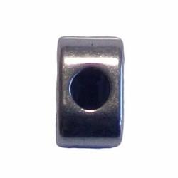 Leerschuif 8x13.5mm. Voor dik leer. Zilverkleurig.