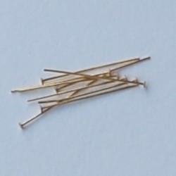 Nietstift met afgeronde kop. Hoogwaardige Kwaliteit. Brass. 30mm. Goudkleur. Per 20 stuks voor.