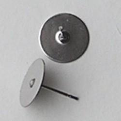 Oorsteker Chirurgisch staal met een plaatje van 10mm. excl. achterkant. Per stuk voor