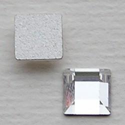 SWAROVSKI ELEMENTS Swarovski Plaksteen. Vierkant. Crystal. 6x6mm.