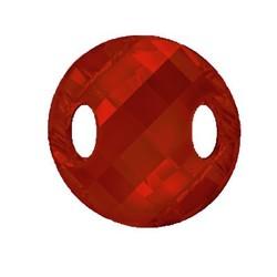 SWAROVSKI ELEMENTS Swarovski Element. Knoop. Sew On 28mm. Red Mag. Met 2 gaten.