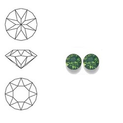 SWAROVSKI ELEMENTS Swarovski Similisteen 4mm pp32. xilion chaton Palace Green Opal
