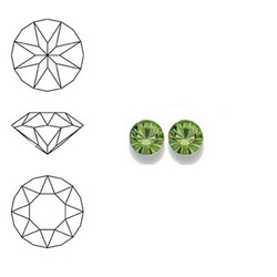 SWAROVSKI ELEMENTS Swarovski Similisteen 4mm pp32. xilion chaton Peridot