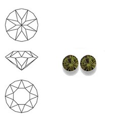 SWAROVSKI ELEMENTS Swarovski Similisteen 4mm pp32. xilion chaton Olivine