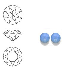 SWAROVSKI ELEMENTS Swarovski Similisteen 4mm pp32. xilion chaton Air Blue Opal