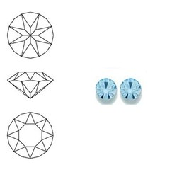 SWAROVSKI ELEMENTS Swarovski Similisteen 4mm pp32. xilion chaton Aquamarine
