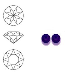 SWAROVSKI ELEMENTS Swarovski Similisteen 4mm pp32. xilion chaton Purple Velvet
