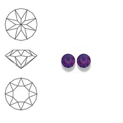 SWAROVSKI ELEMENTS Swarovski Similisteen 4mm pp32. xilion chaton Amethyst