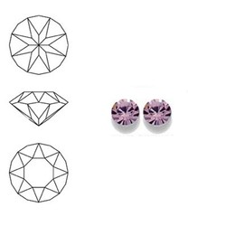 SWAROVSKI ELEMENTS Swarovski Similisteen 4mm pp32. xilion chaton Light Amethyst