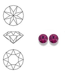 SWAROVSKI ELEMENTS Swarovski Similisteen 4mm pp32. xilion chaton Fuchsia