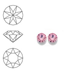 SWAROVSKI ELEMENTS Swarovski Similisteen 4mm pp32. xilion chaton Light Rose