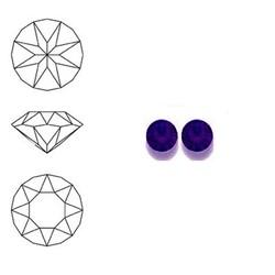 SWAROVSKI ELEMENTS Swarovski Similisteen 3mm pp24. xilion chaton Purple Velvet
