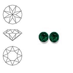 SWAROVSKI ELEMENTS Swarovski Similisteen 3mm pp24. xilion chaton Emerald