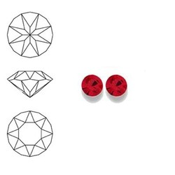 SWAROVSKI ELEMENTS Similisteen. Light Siam. pp19. 2.5-2.6mm. Per stuk