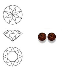 SWAROVSKI ELEMENTS Swarovski Similisteen 2.5mm pp19. xilion chaton Smoked Topaz