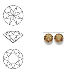 SWAROVSKI ELEMENTS Swarovski Similisteen 2.5mm pp19. xilion chaton Light Colorado Topaz