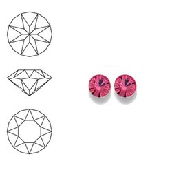 SWAROVSKI ELEMENTS Swarovski Similisteen 2.5mm pp19. xilion chaton Rose