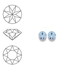 SWAROVSKI ELEMENTS Similisteen. Light Safier. pp19. 2.5-2.6mm. Per stuk