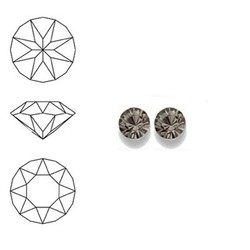 SWAROVSKI ELEMENTS Similisteen. Black Diamond. pp19. 2.5-2.6mm. Per stuk