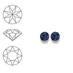 SWAROVSKI ELEMENTS Similisteen. Montana Blue. pp19. 2.5-2.6mm. Per stuk