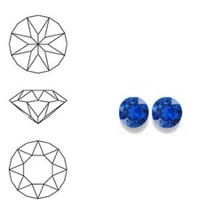 SWAROVSKI ELEMENTS Similisteen. Capri Blue. pp19. 2.5-2.6mm. Per stuk