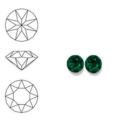 SWAROVSKI ELEMENTS Similisteen. Emerald Green. pp19. 2.5-2.6mm. Per stuk
