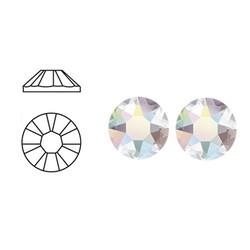 SWAROVSKI ELEMENTS Swarovski plaksteen Crystal AB. ss16. 4mm.