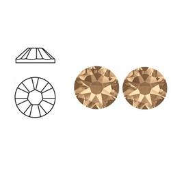 SWAROVSKI ELEMENTS Swarovski Plaksteen 3mm. Crystal Golden Shadow