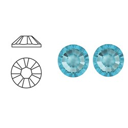 SWAROVSKI ELEMENTS Swarovski plaksteen Aquamarine. ss30. 6.4mm.