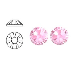 SWAROVSKI ELEMENTS Swarovski plaksteen Light Rose. ss30. 6.4mm.