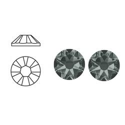 SWAROVSKI ELEMENTS Plaksteen. Black Diamond. ss34. 7.1mm. per stuk