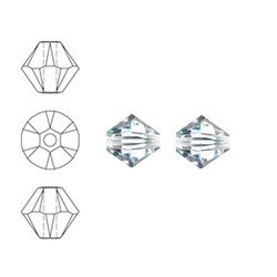SWAROVSKI ELEMENTS Konisch Geslepen Glaskraal. Xilion Bead Crystal. 4mm.
