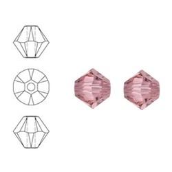 SWAROVSKI ELEMENTS Konisch Geslepen Glaskraal. 4mm. Crystal Antique Pink.