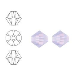 SWAROVSKI ELEMENTS Konisch Geslepen Glaskraal. Violet Opal. 4mm. Per stuk