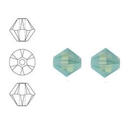 SWAROVSKI ELEMENTS Konisch Geslepen Glaskraal. 4mm. Pacific Opal.