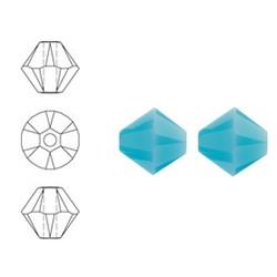 SWAROVSKI ELEMENTS Konisch Geslepen Glaskraal. 4mm Turquoise.