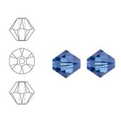 SWAROVSKI ELEMENTS Konisch Geslepen Glaskraal. 4mm. Xilion Bead Sapphire