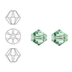SWAROVSKI ELEMENTS Konisch Geslepen Glaskraal. 4mm. Xilion Bead Chrysolite.