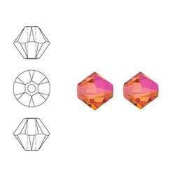 SWAROVSKI ELEMENTS Konisch Geslepen Glaskraal. 4mm. Crystal Astral Pink.