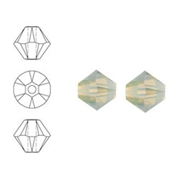 SWAROVSKI ELEMENTS Konisch Geslepen Glaskraal. 4mm. Sand Opal.