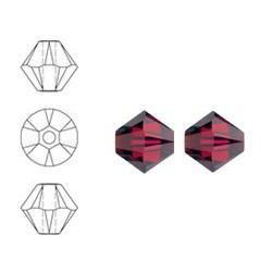 SWAROVSKI ELEMENTS Konisch Geslepen Glaskraal. Ruby. 6mm. Per stuk